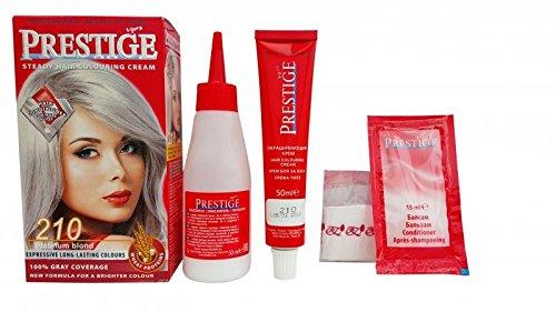 Pack économique de 2 teintures en crèmes colorantes pour les cheveux, couleur blond platine 210
