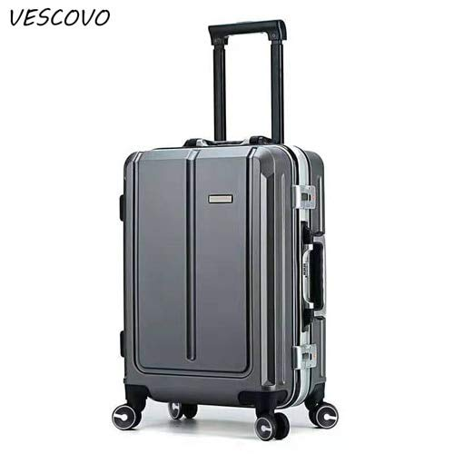 Mdsfe 20'22' 24'26inch PC rolling luggage spinner on wheel aluminum frame business boarding trolley travel suitcase - dark gray, 26'