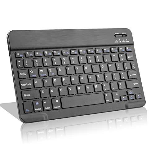 Amazon Fire HD 10 Wireless Keyboard,Universal Slim Portable Bluetooth Keyboard Compatible with Amazon Fire HD 10 Keyboard with Built in Rechargeable Battery,Black