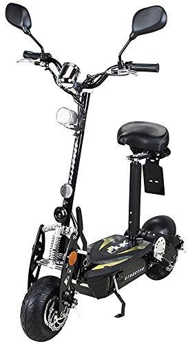 eFlux Street 20 Elektroroller Scooter - 500 Watt Motor - Scheibenbremsen - LED Scheinwerfer - Straßenzulassung (Schwarz)