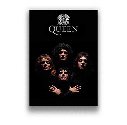 ZOEOPR Poster Queen Art Poster Bohemian Rhapsody Poster Singer Star Bilder für Wohnzimmer Wand Poster Ölgemälde Home Decor 50 * 70Cm No Frame