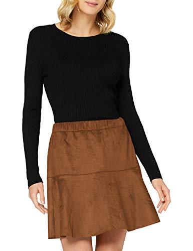 VERO MODA Damen VMSUMMERMY Short FAUXSUEDE Skirt BOOS GA Rock, Cognac, M