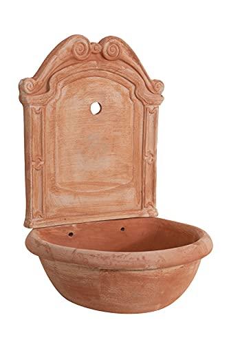 Biscottini Fontana Fontanella per giardino a muro da parete da terra da appendere in Terracotta 100% Made in Italy Lavorata a Mano interno e esterno