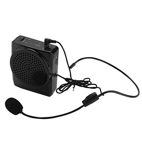 Pomya Drahtloser Sprachverstärker, tragbarer, wiederaufladbarer Sprachverstärker, lautes Mikrofon mit Bund zum Unterrichten von Lautsprechern(EU)