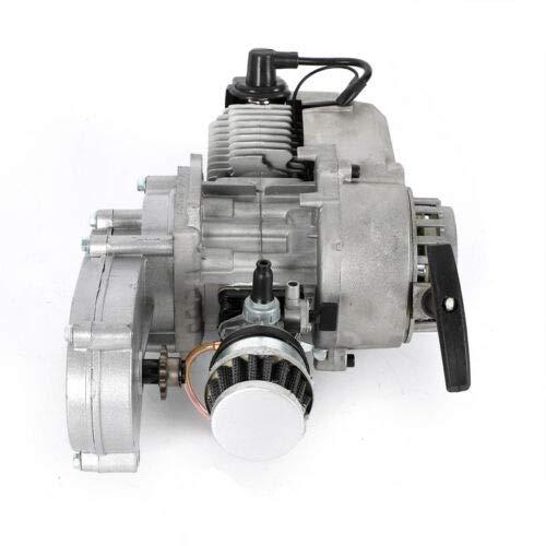 QIZHI 49cc 2Stroke Pull Start Engine Motor Mini Dirt Bike ATV Air Filter Gear Box New