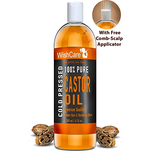 WishCare Premium Cold Pressed Castor Oil - Pure &...