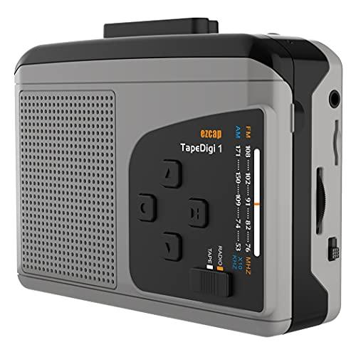 Y&H Reproductor de portátil Casete portátil con Radio Am/FM,Conversor de Casete a MP3,Guardar en Tarjeta Micro SD,No Necesita computadora,Walkman para Escuchar de Radio/Reproductor de Cint