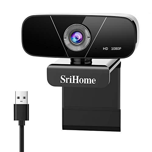 Faneam Webcam con Microfono 1080P Full HD USB Webcamera PC Web Cam Computer Videocamera,per Conferenza, Videochiamate,Registra Video,Studio,Compatibile con Windows Android iOS Linux Mac