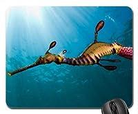 魚をテーマにしたゲーミング滑り止めファッションマウスパッド、シードラゴン、ウィーディー滑り止めファッションマウスパッド、滑り止めファッションマウスパッド