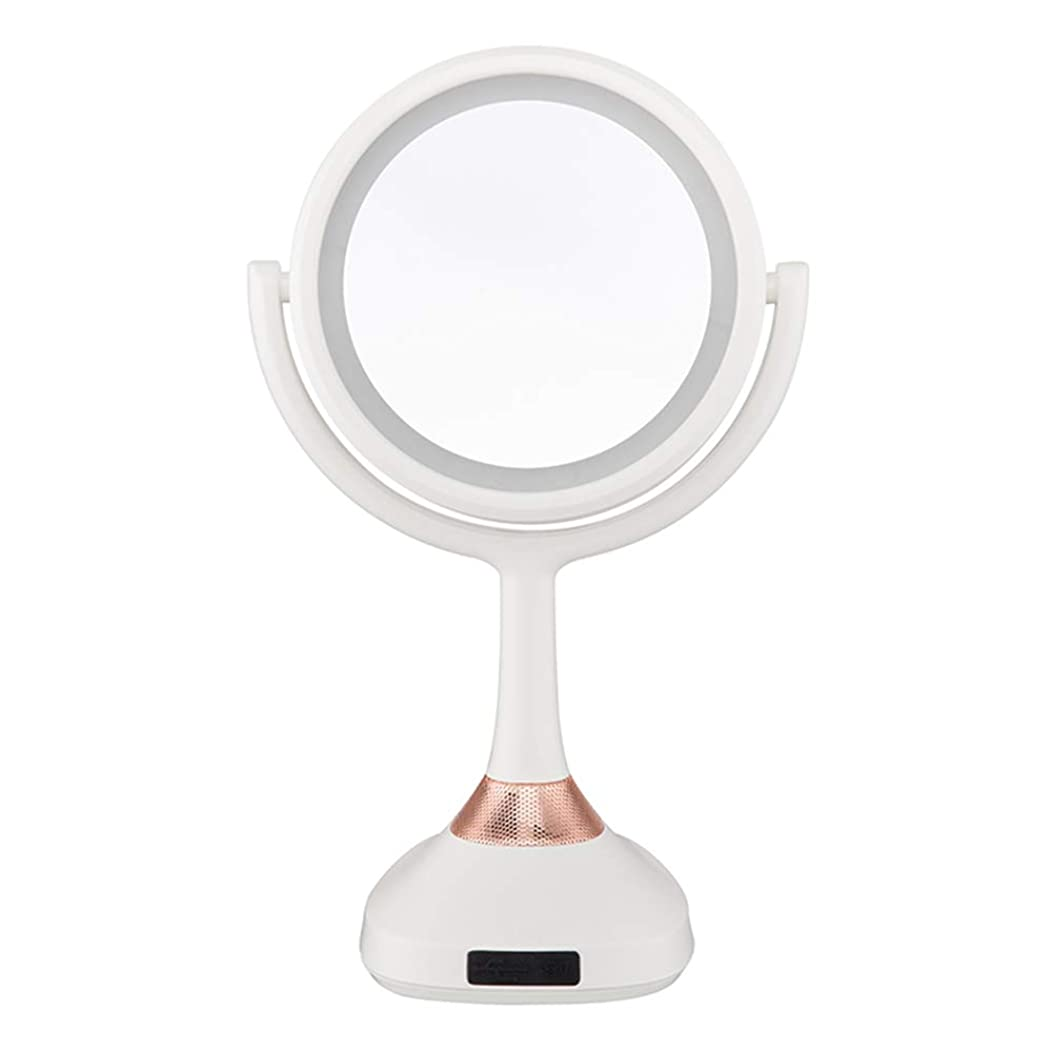 レール妨げるアレキサンダーグラハムベルCCJW ライトLEDプリンセスドレッシングミラー - USB電源、カウンタートップ化粧鏡/メイクアップミラー