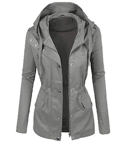 SLYZ Dames Hiver Nouvelle Veste En Coton Léger Mince à Capuche Veste De Couleur Pure Veste En Coton All-Match Haut Pour Femmes