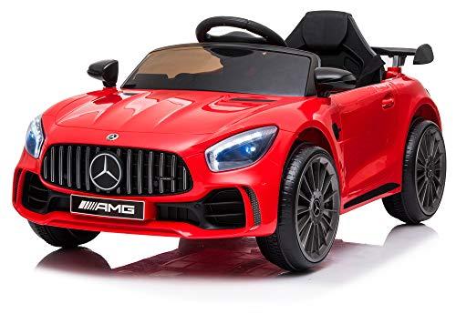 giordano shop Macchina Elettrica per Bambini 12V Mercedes GTR Small AMG Rossa