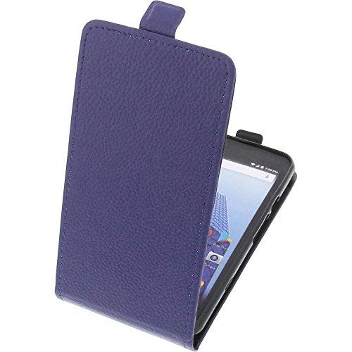 foto-kontor Tasche für Archos Access 50 4G Smartphone Flipstyle Schutz Hülle blau
