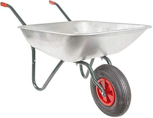 RAVENDO DIY80 Gartenkarre Schubkarre Schiebkarre 80l Mulde Luftrad 50kg Tragkraft