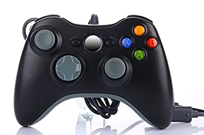 Multi-use Controller Wired Controller for Xbox 360 Slim or PC Games on Windows XP Vista 7 8 10, Compatible and Ergonomic Joypad/Gamepad with Dual Vibration, Black by Nobrand