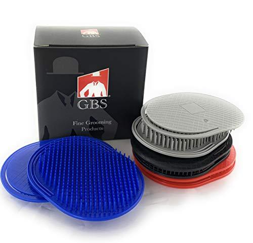 GBS 8pcs Multi Colored Shower Palm Brush for Men OR Women, Portable Hair Brushes Beard Shampoo Brushes Pocket Comb Scalp Massager Brush for Travel