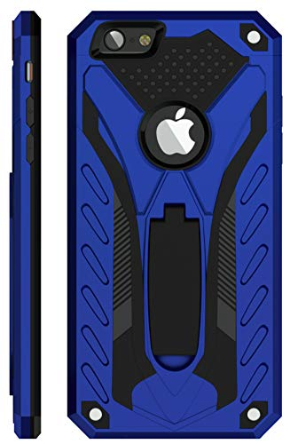 Kitoo Designed for iPhone 6 Plus Case/Designed for iPhone 6S Plus Case with Kickstand, Military Grade 12ft. Drop Tested - Blue