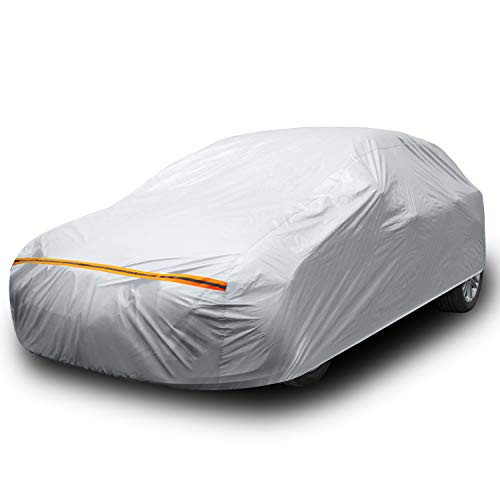 Ohuhu Car Cover for Sedan 191'-201', Upgraded Car Covers Universal Auto Vehicle Cover for Sedan -...