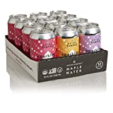 Drink Simple Organic Sparkling Maple Water Variety Pack, 12oz Cans, Pack of 12