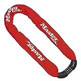MASTER LOCK 8392EURDPROCOLR Candado, Combinación, 90 cm Cadena, Rojo, Electrica, Bicicleta Montaña