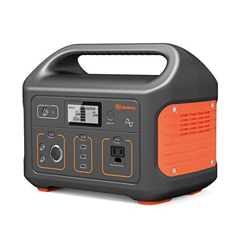 Jackery Portable Power Station Generator Explorer 440, 440Wh Solar Generator Lithium Backup Power Supply with 110V/300W (500W Peak) Pure Sine Wave AC Inverter for RV, Camping CPAP Fishing Emergency