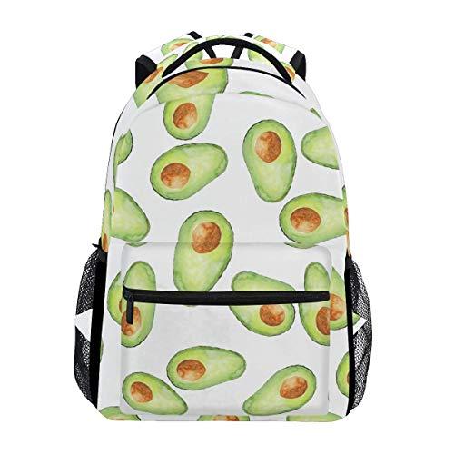 Stilvoller AVO Avocado-Rucksack - Leichte Reisetaschen für Schulhochschulen, 16