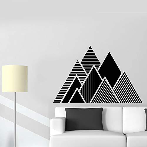 yaonuli Pyramide Sticker Mural Triangle Motif Ligne Géométrique Vinyle Autocollant Décoration de La Maison Murale 68X43 cm