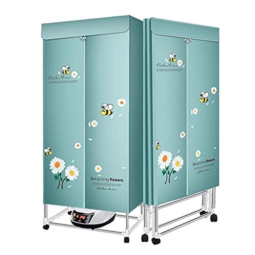 Vrijstaande elektrische wasdroger Opvouwbare wasdroger Slimme afstandsbediening droger met uitschakelbeveiliging (kleur…
