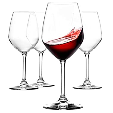 Paksh Novelty Italian Red Wine Glasses - 18 Ounce - Lead Free - Wine Glass Clear (Set of 8)