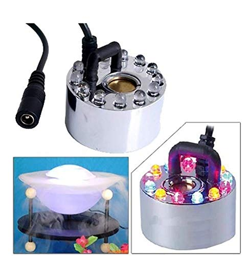 YEIU 12 LED ultrasone mistmachine mistmachine verstuiver diffuser mistmaker geschikt voor binnen- of buitenfontein, miniwaterspellen en kantoortoepassingen