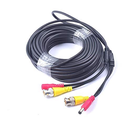 Cocar 16FT 5M All-in-One BNC Vídeo Extensión Cable con Conector CC Alimentación para Cámaras de Seguridad Inicio de Vigilancia CCTV Circuito Cerrado de TV del Sistema