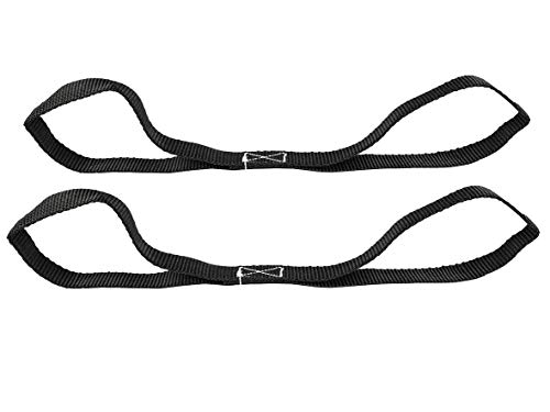 LAS 10324 Doppelschlaufen, 2 Stück, 25 mm x 45 cm, Schwarz
