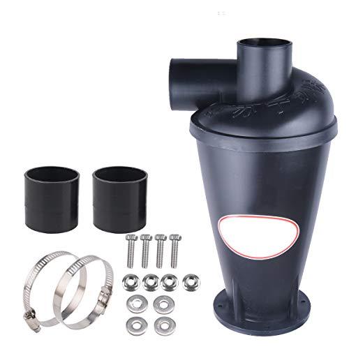 Vinteky® Zyklon Staubabsaugung Filter Staubabscheider Filter Abscheider Hochleistungszyklon Pulver Staub Sammler Filter (schwarz)