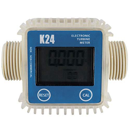 Milkvetch 1 Pieza K24 LCD Medidor De Flujo De Combustible Digital De Turbina Ampliamente Utilizado para Productos Quimicos De Agua