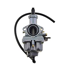 PZ26 carburetor,Carburetor manifold 26mm;Air filter 38mm;Mounting screw size: 48mm Material: Aluminum,high metal made,high quality,maintaining shape and color,corrosion protection Fit for 4 Strokes 100cc 110cc 125cc CG125 XF125 Engine 156FM 157FM ATV...