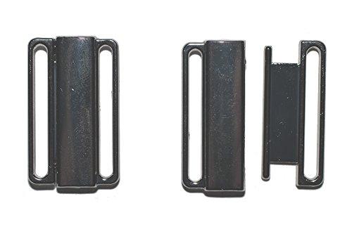dalipo 14001 - Bikini-Verschluss mit klick, 2 Paar, Metall, 25mm