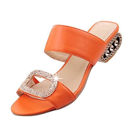 MIRRAY Damenmode Freizeit Wasser Kristall Fisch Mund Sandalen Hausschuhe Schuhe