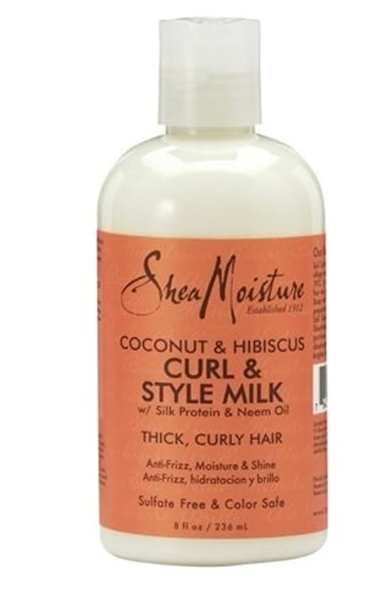 発生どこかヘロインSheaMoisture Coconut & Hibiscus Curl & Style Milk 230ml ココナッツ&ハイビスカスカール&スタイルミルク