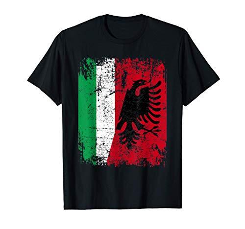 ALBANIA Maglietta ITALIA Bandiera Amicizia ITALIANA ALBANESE Maglietta