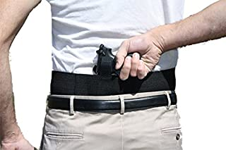 Belly Band Gun Holster Behind The Back Concealed Carry with Extra Magazine Pouches