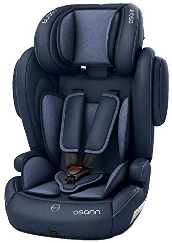Osann 102-138-249 Kinderautositz Flux Isofix, Gruppe 1/2/3 (9-36 kg), Autositz Navy Melange, Blau