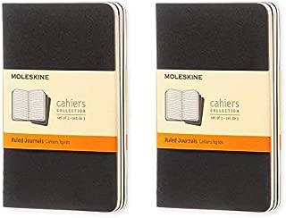 Moleskine Cahier Journal (Set of 3), Pocket, Ruled, Black, Soft Cover (3.5 x 5.5) Pack of 2