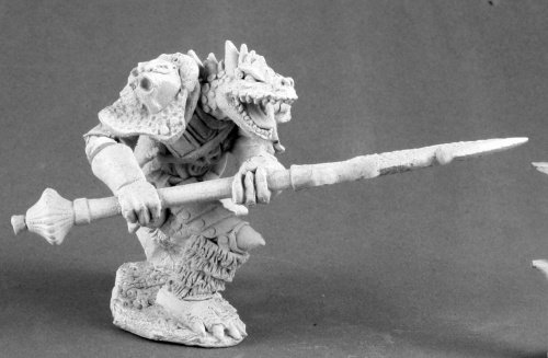 Reaper Miniature Unpainted Kriv Blackspear Dragonman Barbarian 03513 Dark Heaven