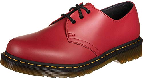 Dr. Martens Unisex 1461 Satchel Red Smooth Leather Colour Pop Shoes UK 8