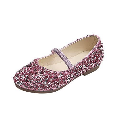 YWLINK Zapatos De Cristal De Lentejuelas para NiñOs Antideslizantes Suela Suave Resistente Al Desgaste Zapatos De Princesa Zapatos De Bebé,Zapatos De Baile,Calzado De Rendimiento,Zapatos Brillantes