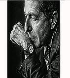 shjklb Leonard Cohen Sänger Musiker Star Poster Leinwand Malerei Home Wall Decor Bild ohne Rahmen...