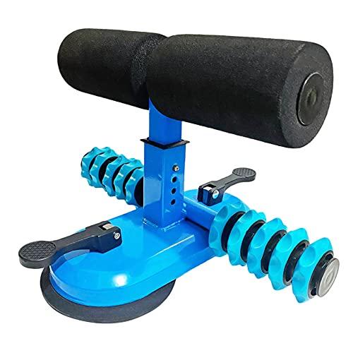 MOPOIN Sit-Up Trainingsgerät, Verstellbares Sit-Up Hilfsgerät Bauchtrainer Sit-Up Bar mit Massagerolle Fitnessgeräte für Zuhause Kraftstation für Männer und Frauen, Blau