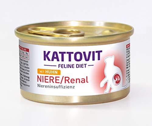 Kattovit Katzenfutter Low Protein Huhn 85 g, 24er Pack (24 x 85 g)