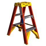 Werner T6203 300-Pound Duty Rating Fiberglass Twin Stepladder, 3-Foot