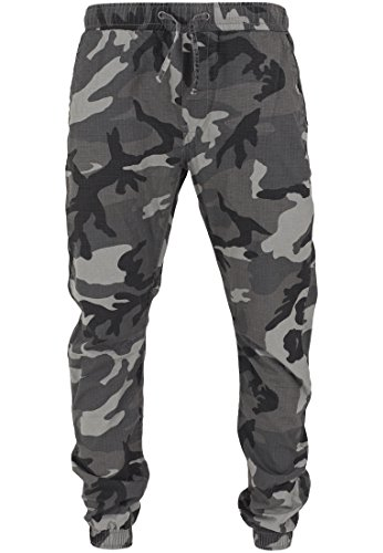 Urban Classics Herren Sporthose Jogginghose Ripstop Jogging Pants mehrfarbig (Darkcamo) X-Large